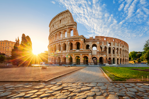 Colosseum in Rome and morning sun, Italy 539115110