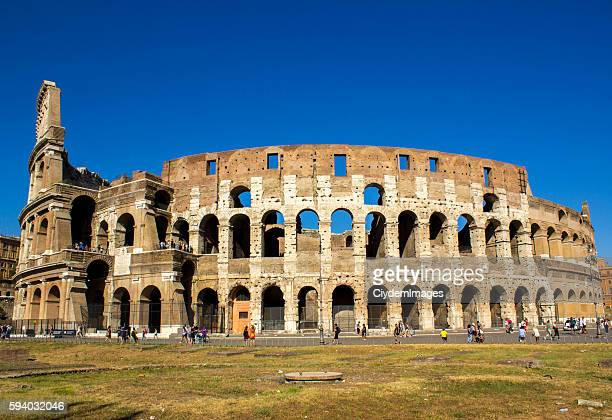 Colosseum in Rome in day time