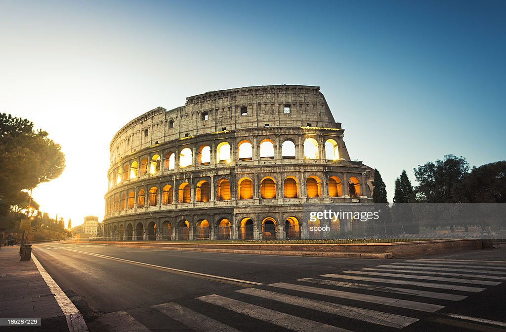 Colosseum in Rome, Italy at sunrise : Stock Photo