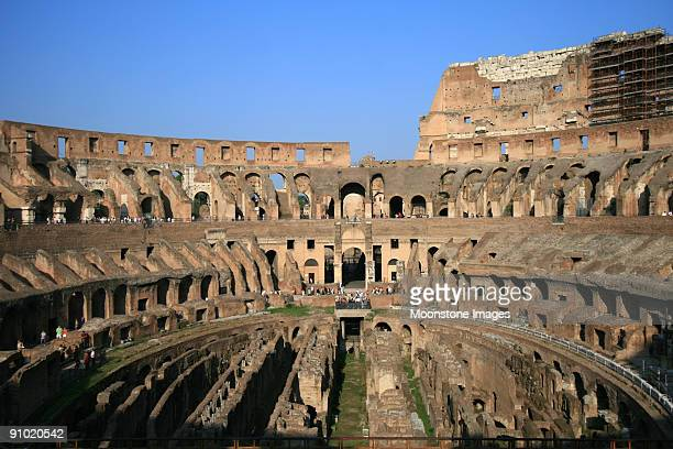 colosseum in rome, italy - inside the roman colosseum stock photos and pictures