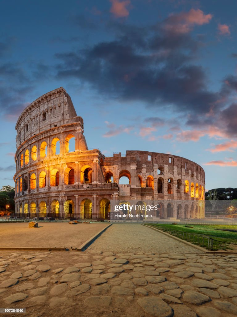 Colosseum in the evening : Stock Photo