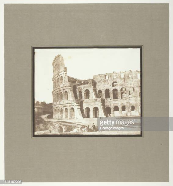 Colosseum, Rome, 2nd View, May 1846. [Amphitheatre built in the 1st century AD, Rome, Italy]. Salted paper print. Artist Calvert Jones.