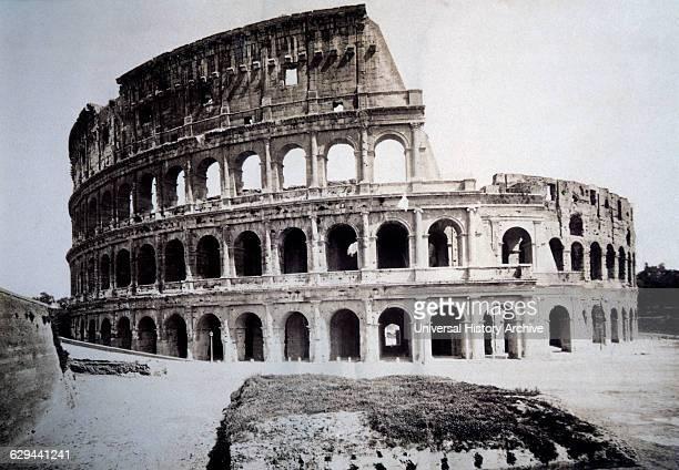 Colosseum Rome Italy Albumen Photograph circa 1880