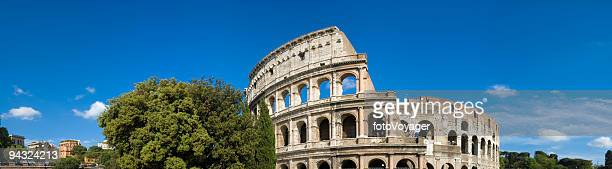 colosseo roma panorama italia - coliseum rome stock photos and pictures