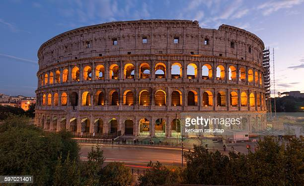 colosseum theatre of rome, italy - coliseum rome stock photos and pictures