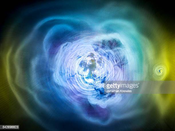 Colour abstract dry ice swirl
