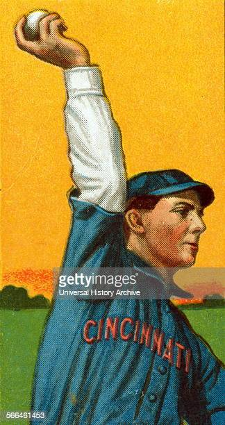 Colour baseball card portrait of Art Fromme a professional baseball player who pitched in the Major Leagues from 19061915 Dated 1910