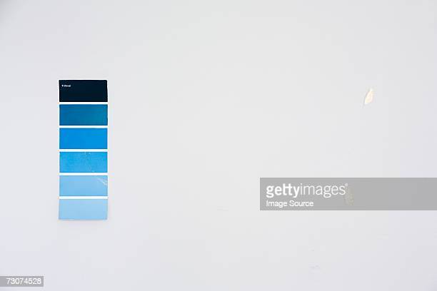 Colour chart on a wall