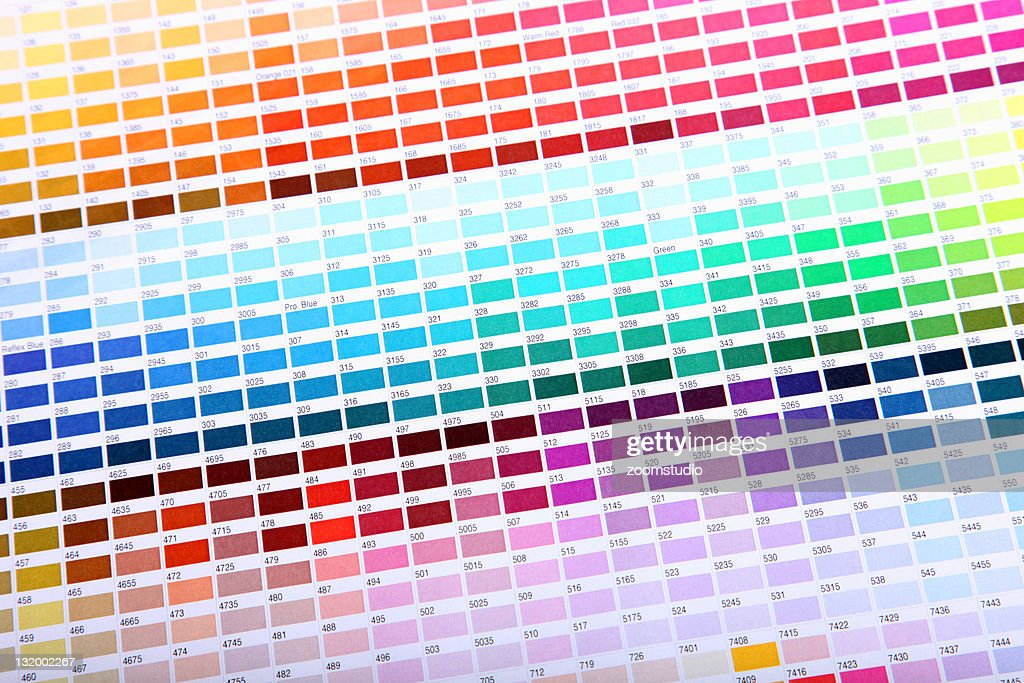 Colour guide - pantone swatch book : Stockfoto