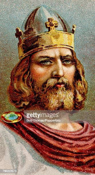 Colour illustration Alfred the Great King of Wessex from 871