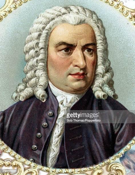 Colour illustration Composers Johann Sebastian Bach German composer