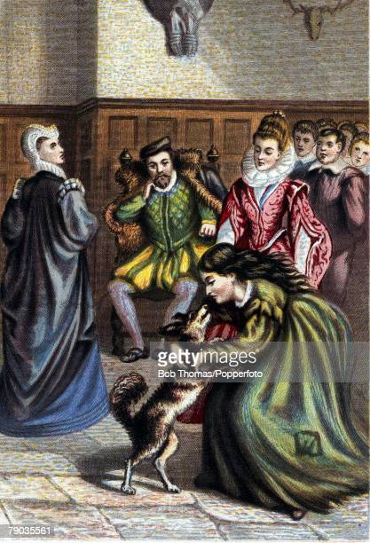 Colour illustration English History Circa 1535 The judgement of Sir Thomas More when he refused to take the oath of allegiance to King Henry VIII...
