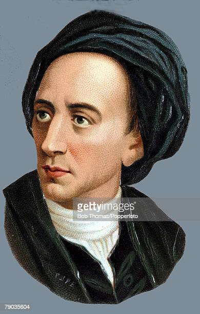Colour illustration Literature Alexander Pope English poet and satirist