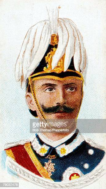Colour illustration Royalty Victor Emmanuel III King of Italy King from 1900 until his abdication in 1946