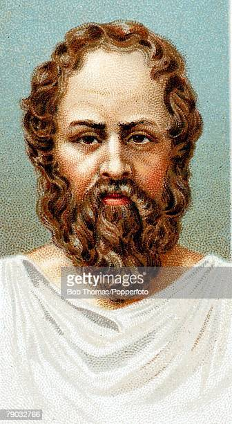 Colour illustration Socrates Athenian philosopher