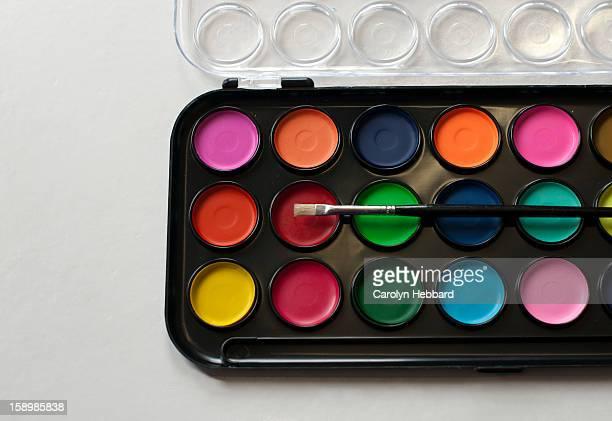 Colour Palette with Paintbrush