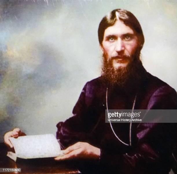 Colour photograph of Grigori Rasputin Grigori Yefimovich Rasputin a Russian mystic and selfproclaimed holyman who had great influence in late...