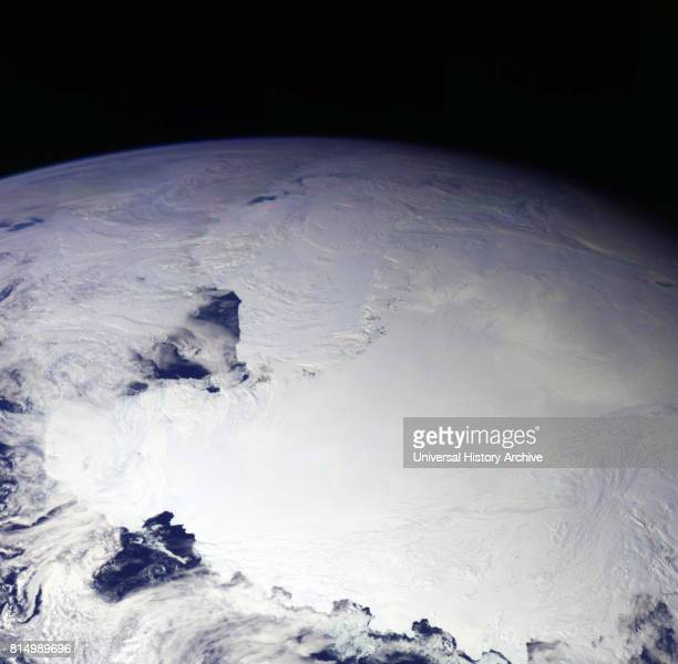 Colour picture of Antarctica is one part of a mosaic of pictures covering the entire Antarctic continent taken during the hours following NASA's...