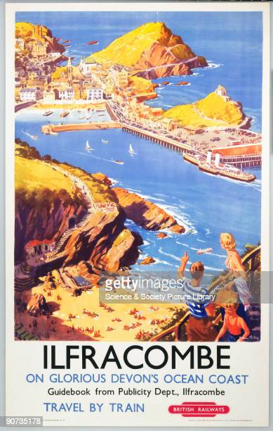 Colour poster produced for British Railways to promote the North Devon coastal resort of Ilfracombe The artist is Harry Riley