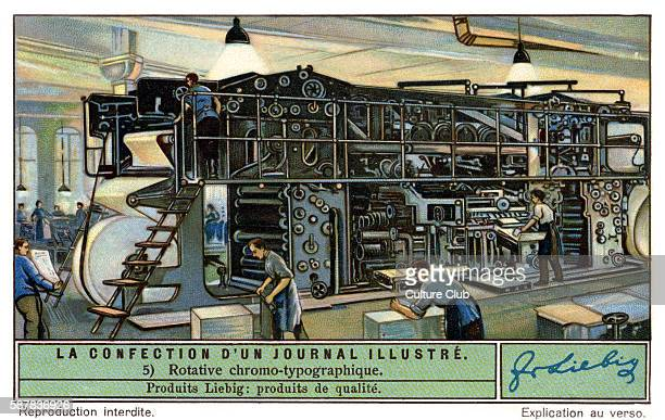 Colour rotary printing press for a French illustrated magazine c 1934