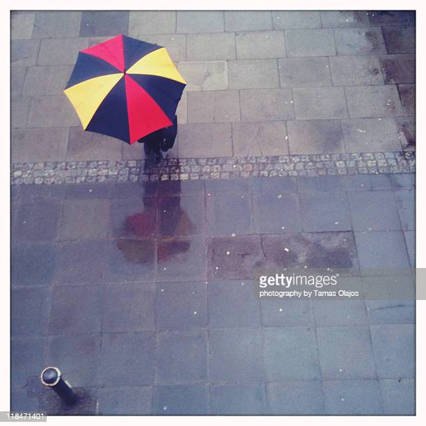 Colour umbrella from above