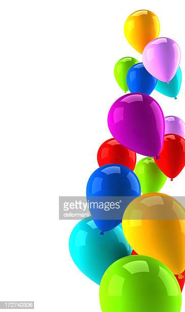 Coloured air balloons background for margins