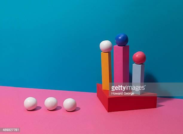 Coloured Balls on Coloured Plinths