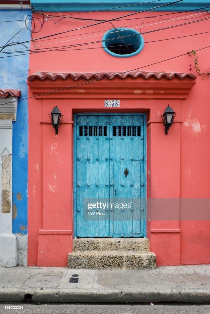 Coloured Door in Cartagena de Indias (Bol var) Colombia. & Coloured Door in Cartagena de Indias (Bol var) Colombia Pictures ...