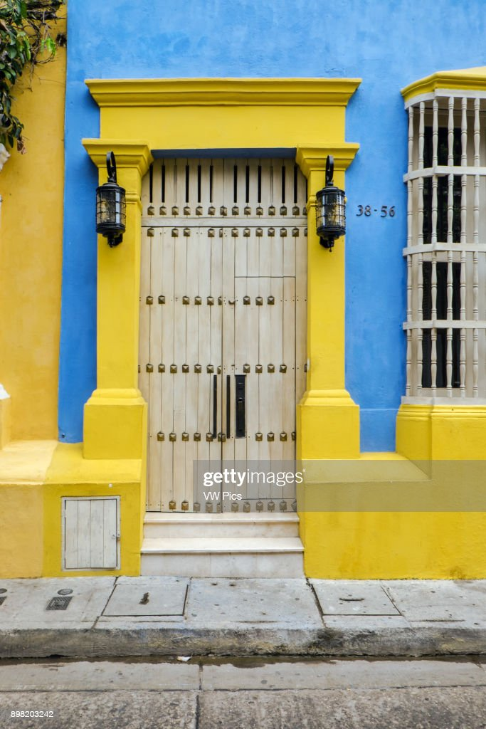 Coloured Door in Cartagena de Indias (Bol var) Colombia. & Coloured Door in Cartagena de Indias (Bol var) Colombia Pictures ...