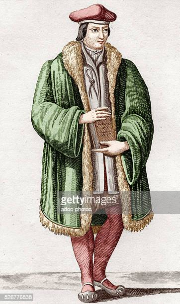 Guillaume Bud�� French scholar born in Paris Coloured engraving