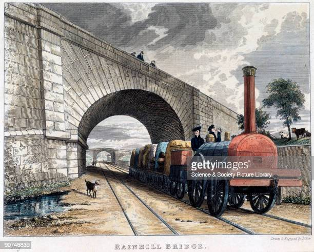 Coloured engraving drawn and engraved by Isaac Shaw from a series entitled 'Views of the Most Interesting Scenery on the Line of the Liverpool and...