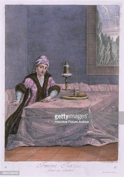 Coloured Engraving Turkish Woman