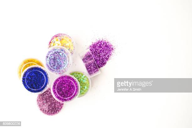 coloured glitter - art and craft stock pictures, royalty-free photos & images