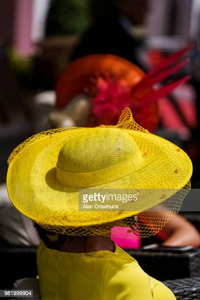Coloured hats on day 5 of Royal Ascot at Ascot Racecourse on June 23 2018 in Ascot England