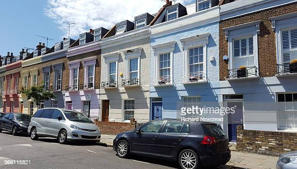 coloured homes - parking stock pictures, royalty-free photos & images