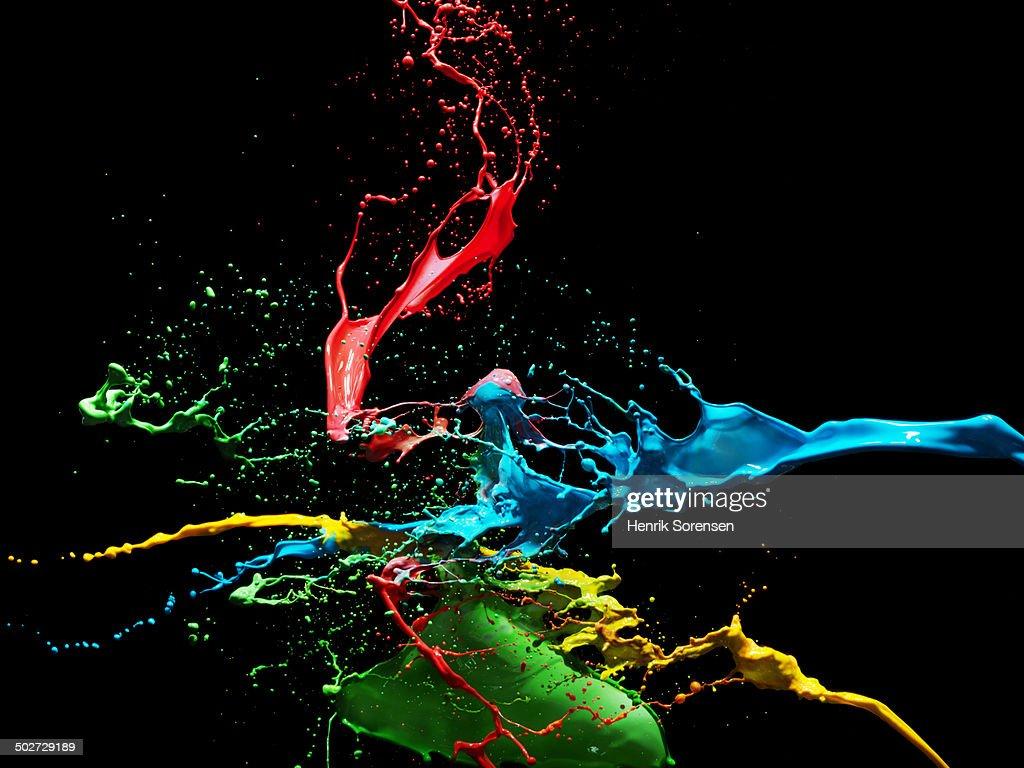 Coloured liquid splash : Stock Photo
