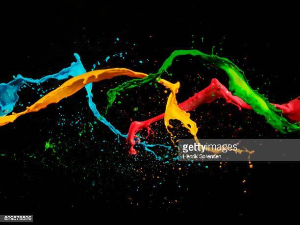 Coloured liquid splash