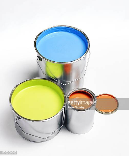 Coloured paint pots