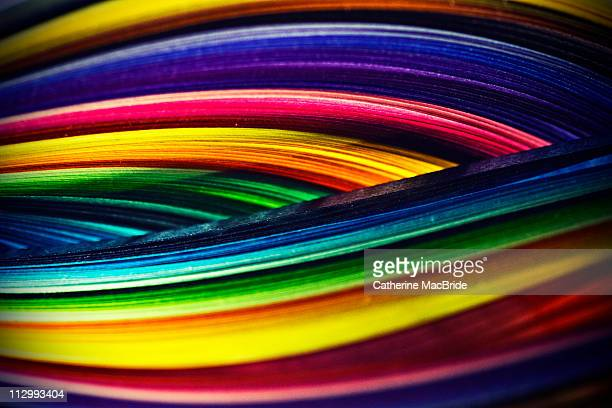 coloured paper curves - catherine macbride stockfoto's en -beelden