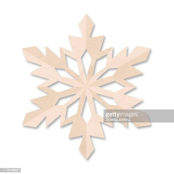 coloured paper snowflake - snowflake stock pictures, royalty-free photos & images