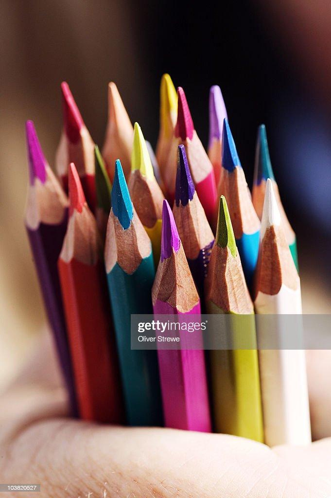 Coloured pencils. : Foto stock