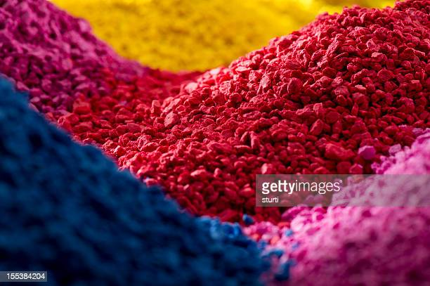 coloured polymer compounds - plastic stockfoto's en -beelden