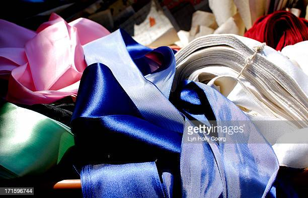 coloured satin ribbon for sale - lyn holly coorg stock pictures, royalty-free photos & images