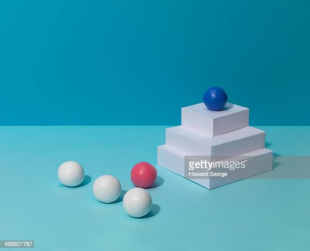 Coloured Shapes with Plinth