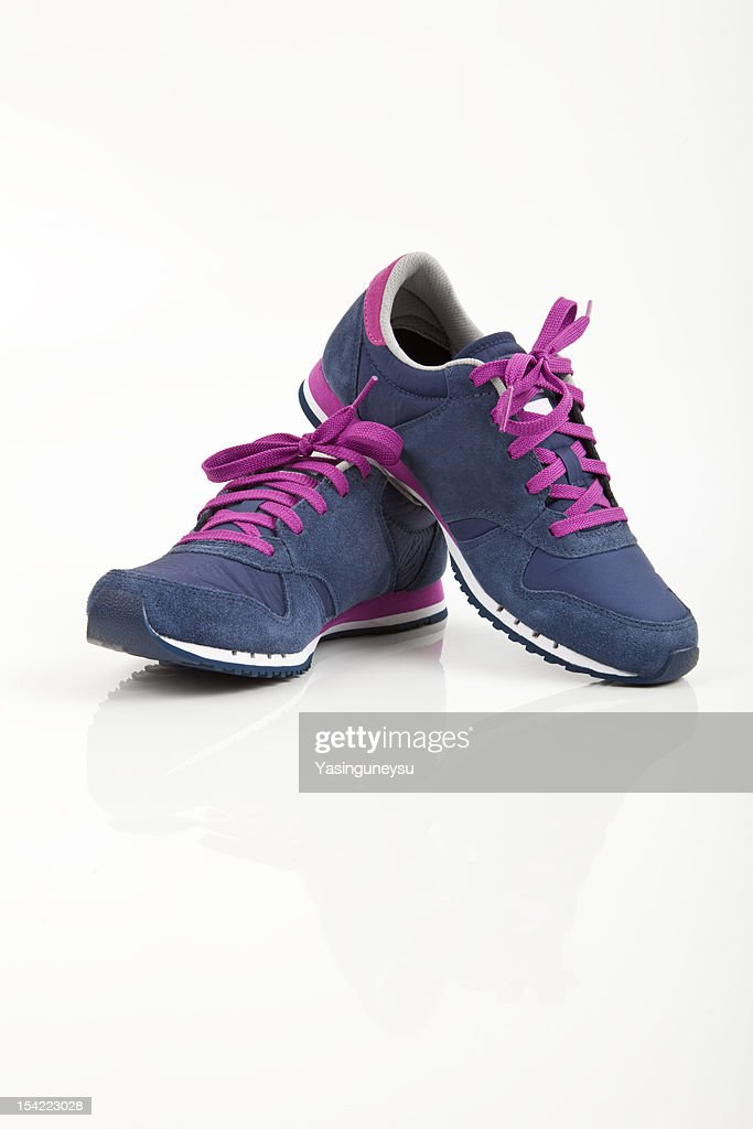 Coloured sports shoes : Stock Photo