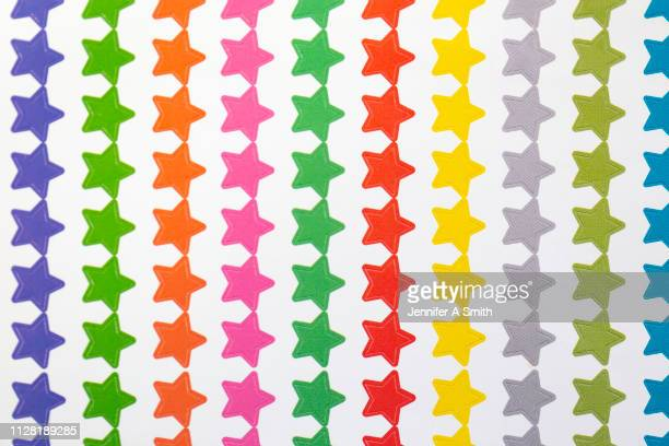 coloured stars - sticker stock pictures, royalty-free photos & images