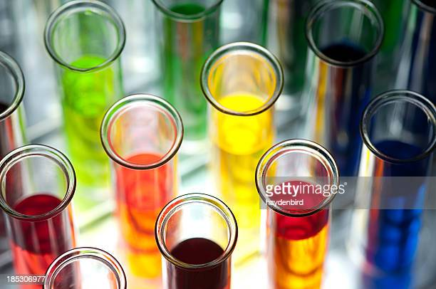 Coloured test tubes Shallow DOF