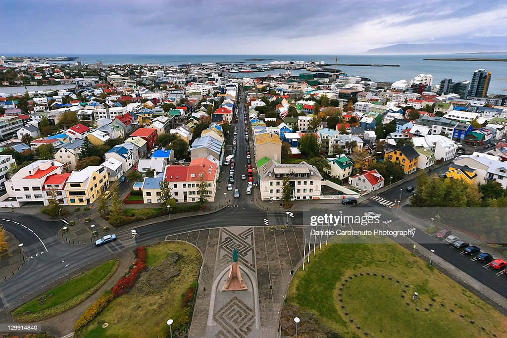 Coloured view from top : Stock Photo