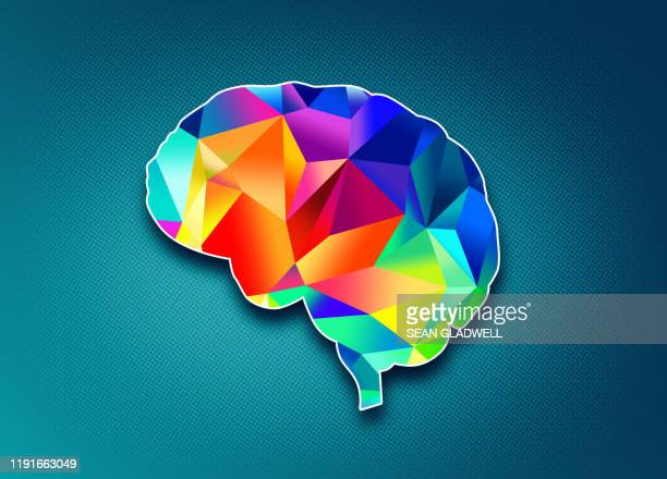 colourful abstract brain - knowledge is power stock pictures, royalty-free photos & images