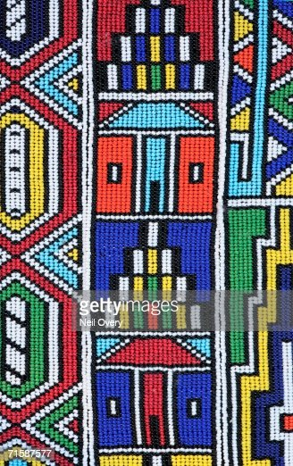 Colourful African Ndebele Bead Work Full Frame High Res